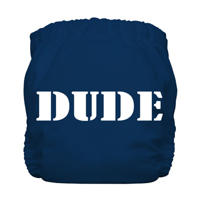 Diaper 2 Inserts Dude Blue One Size Hybrid AIO