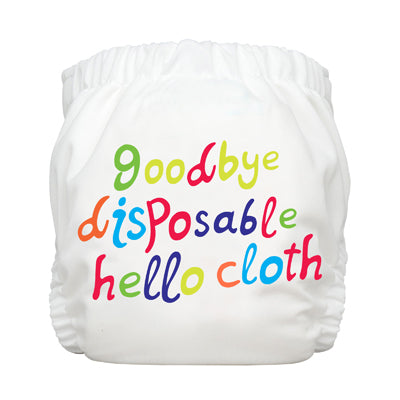 Diaper 2 Inserts Hello Cloth White One Size