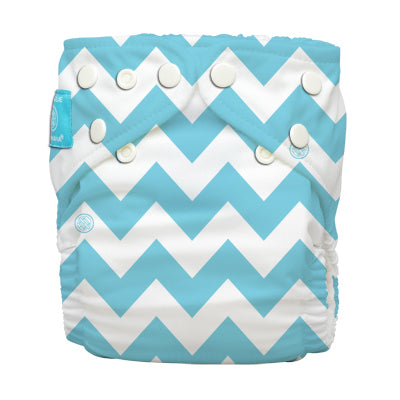 Diaper 2 Inserts CB Blue Chevron One Size