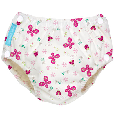 Reusable Easy Snaps Swim Diaper Butterfly X-Large