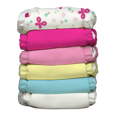 6 Diapers 12 Inserts Butterfly One Size Hybrid AIO