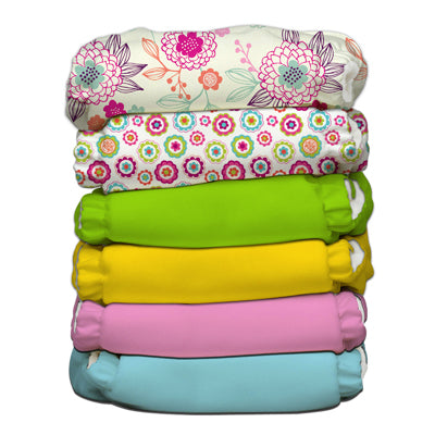 6 Diapers 12 Inserts Organic Dreamy One Size