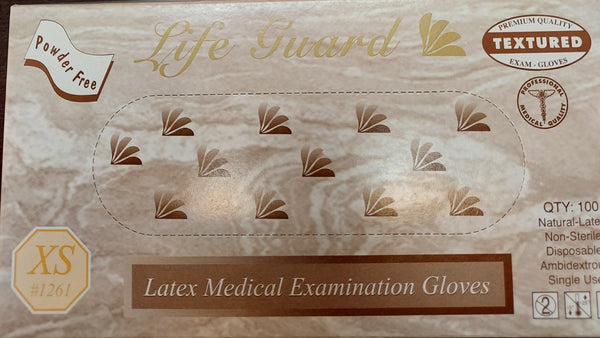 Life Guard Latex Medical Examination Gloves( XS) - CLEARENCE