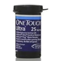 OneTouch Ultra Blood Glucose Test Strips 25CT