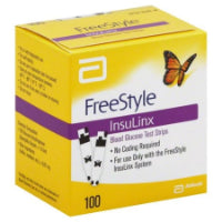 Freestyle InsuLinx Blood Glucose Test Strips, 100CT