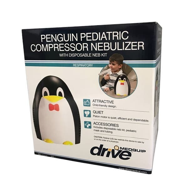 Penguin Pediatric Compressor Nebulizer with disposable Neb Kit