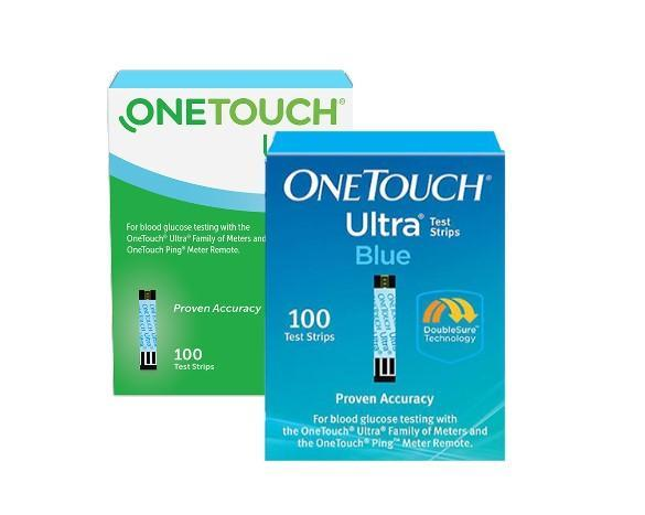 One Touch Ultra Blue Blood Glucose Test Strips 100CT