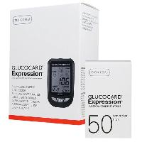 Glucocard Expression Monitoring System Kit and Test Strip Combo