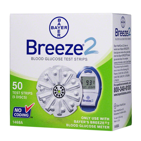 Bayer Breeze 2 Blood Glucose Test Strips 50 CT