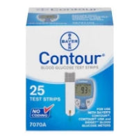 Contour Blood Glucose Test Strips 25CT