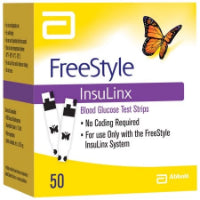 Freestyle InsuLinx Blood Glucose Test Strips, 50CT