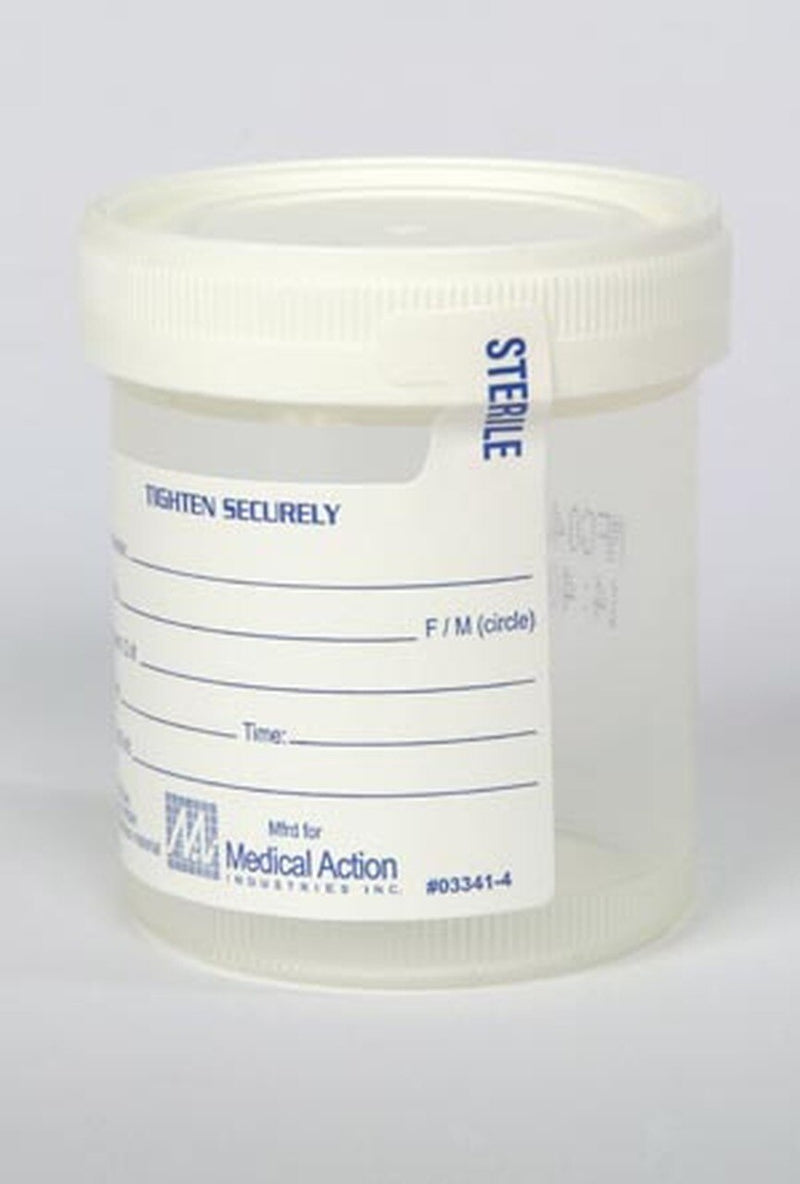 Specimen Sterile Container with lid 3oz