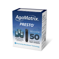AgaMatrix Presto Blood Glucose Test Strips 50ct