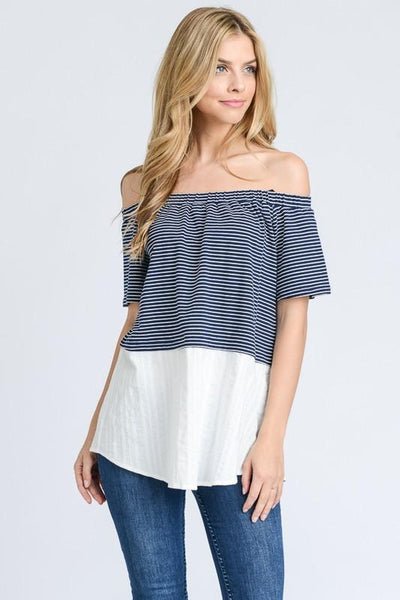 Off Shoulder 2Fer Top