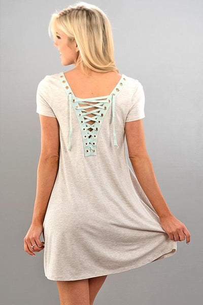Reversible Lace-up Dress