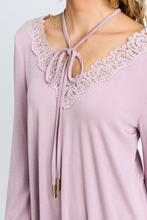 Crochet Lace Trim Blouse