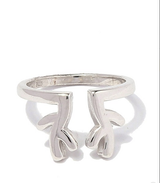 Antlers Sterling Silver Ring