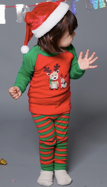 Rudolph Striped Pajama Set