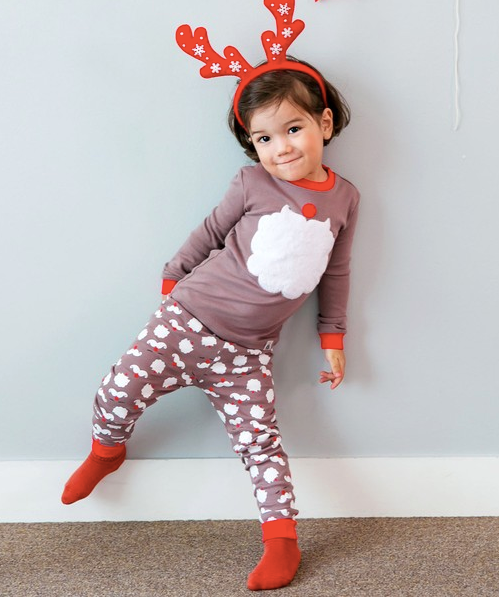Winter Santa Pajama Set-Brown