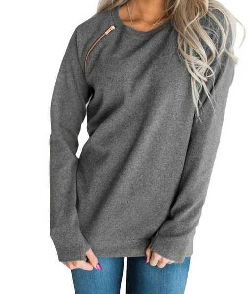 Z...Jana Gold Zip Sweatshirt