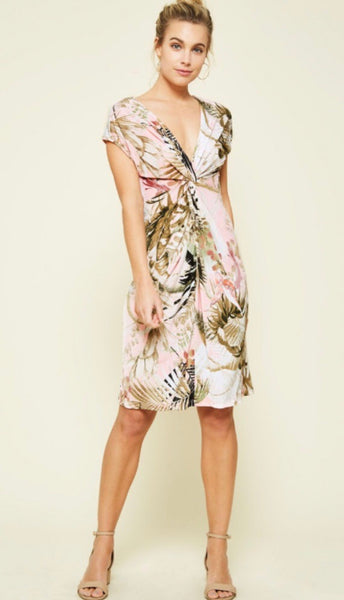 Tropical Knot Bodice Dress