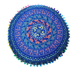 Aluna Blue and Orange Mandala Pillow Case