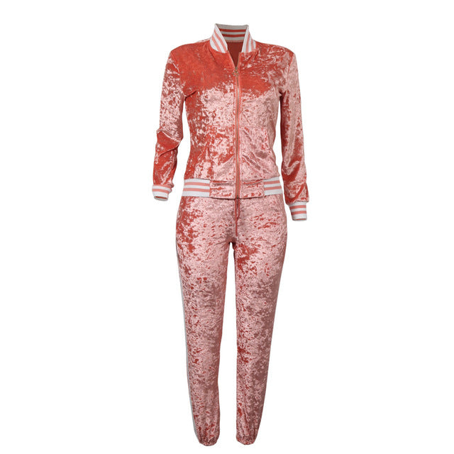 a5312585b4db NEW 2018 Women's Two Piece Velour Jumpsuit! – Hooded Nation