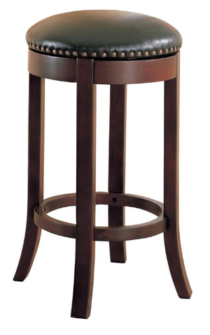 Swivel Leather Bar Stool