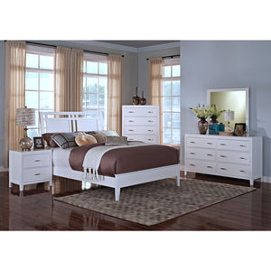 Sandra White Bed Frame