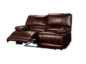 Wyoming Chestnut Leather Loveseat Reclining