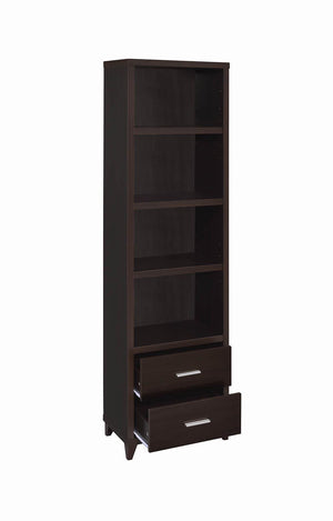 2-Drawer Media Tower Cappuccino