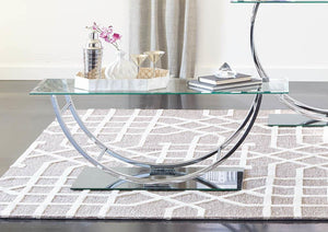 Contemporary Chrome Coffee Table