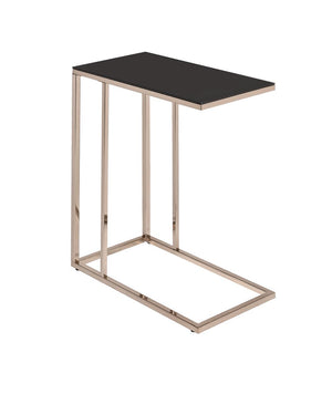 Contemporary Chocolate Chrome Snack Table