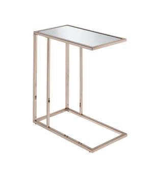 Rectangular Accent Table Mirror And Chocolate Chrome