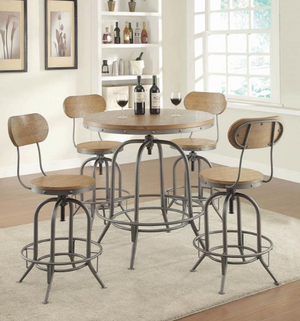 Rustic Adjustable Bar Stool