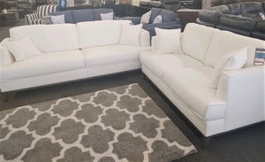 The Bailee White Linen, Sofa, Loveseat, or Chair