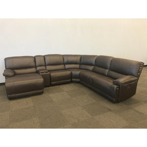 The Cloud Brown Top Grain Leather Modular Sectional