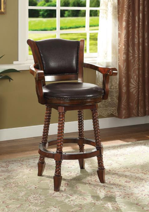 Classic Wooden Swivel Bar Stool