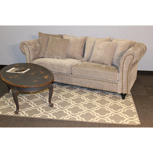 The Cambridge Tufted Living Room Set Graphite