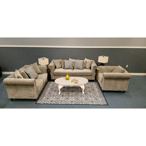 The Kensington Living Room Set Graphite