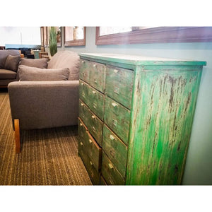 IRON PAINTED 15 DRAWERS CHEST