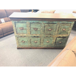 WDN. CARVED 8 DRAWERS CHEST