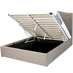 Taupe Natasha Storage Bed