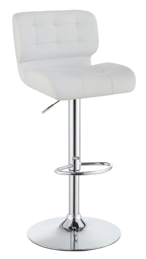 Plush Adjustable Bar Stool