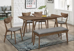 MODERN 6 PC DINING SET W LEAF