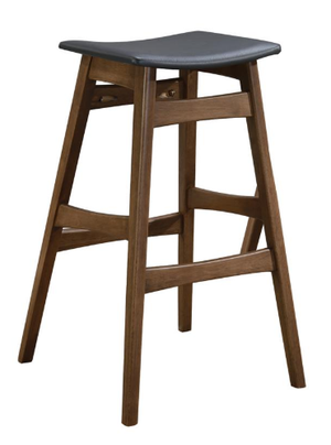 Small Wood Rec Room Bar Stool