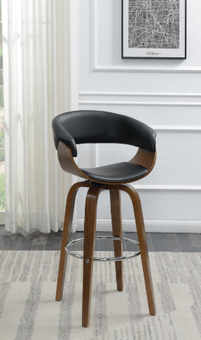 Small Wood Swivel Bar Stool