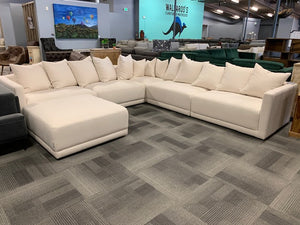 DOWN CLOUD WHITE SECTIONAL