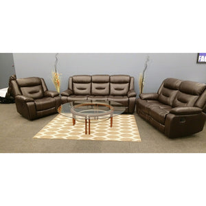 The Montana Brown Leather Reclining Set