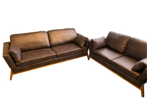 Saddle Brown Leather Jackie Sofa or Loveseat